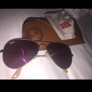Purple ray ban aviators